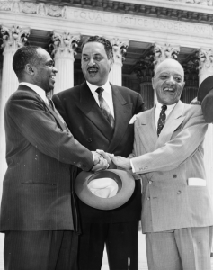 George E. C. Hayes (L), Thurgood Marshall (C) & James M. Nabrit (R)